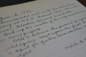 Commissioners Meeting Minutes from 1940